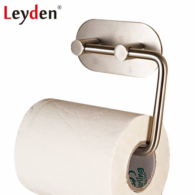 Leyden 304 Stainless Steel Brushed 3m Self Adhesive Tissue Holder
