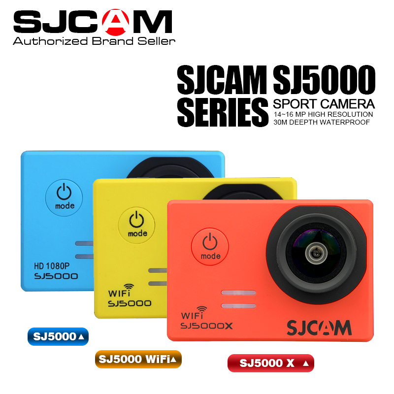 Original SJCAM SJ5000 Series SJ5000 & SJ5000 WiFi Action Sport Camera 1080P Full HD Waterproof Sport DV Helmet Camera vs go pro экшн камера sjcam sj5000 wifi черный sj5000wifiblack