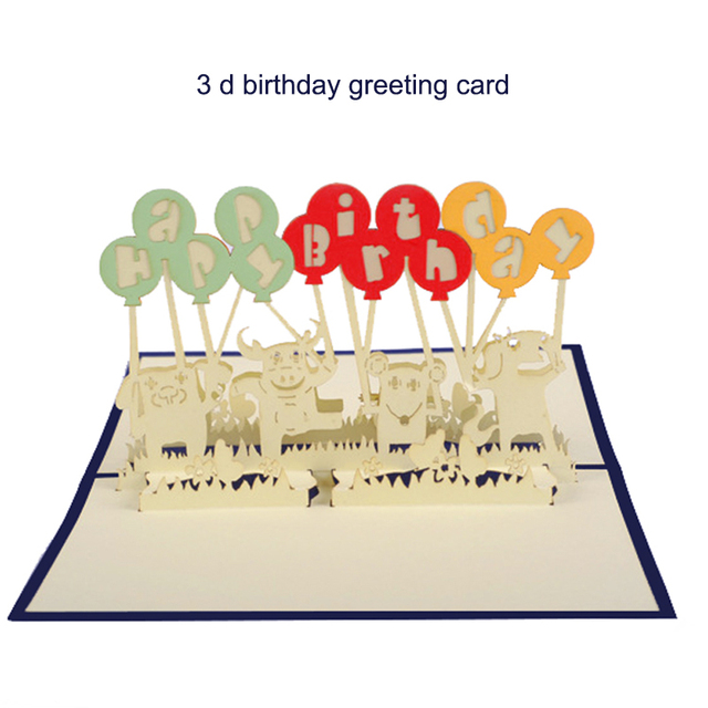 birthday card 3d greeting card paper art child birthday greeting