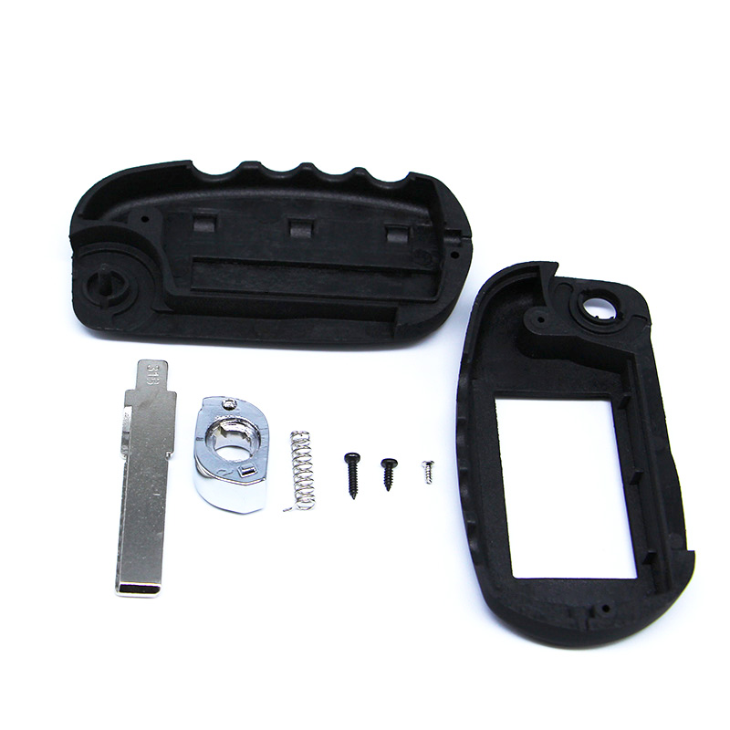New arrival switchblade key case for Scher Khan magicar 5 uncut blade fob case cover M5 folding car flip remote