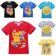 Детские футболки Покемон Гоу детские футболки с покемонами для девочек топы и блузки одежда для мальчиков футболька футболка с рисунком из мультфильма коплект с футболкой