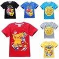 Niños camisa niños pokemon pokemon ir camiseta para niñas tops y blusas ropa del muchacho tee camiseta camiseta de la historieta ropa traje