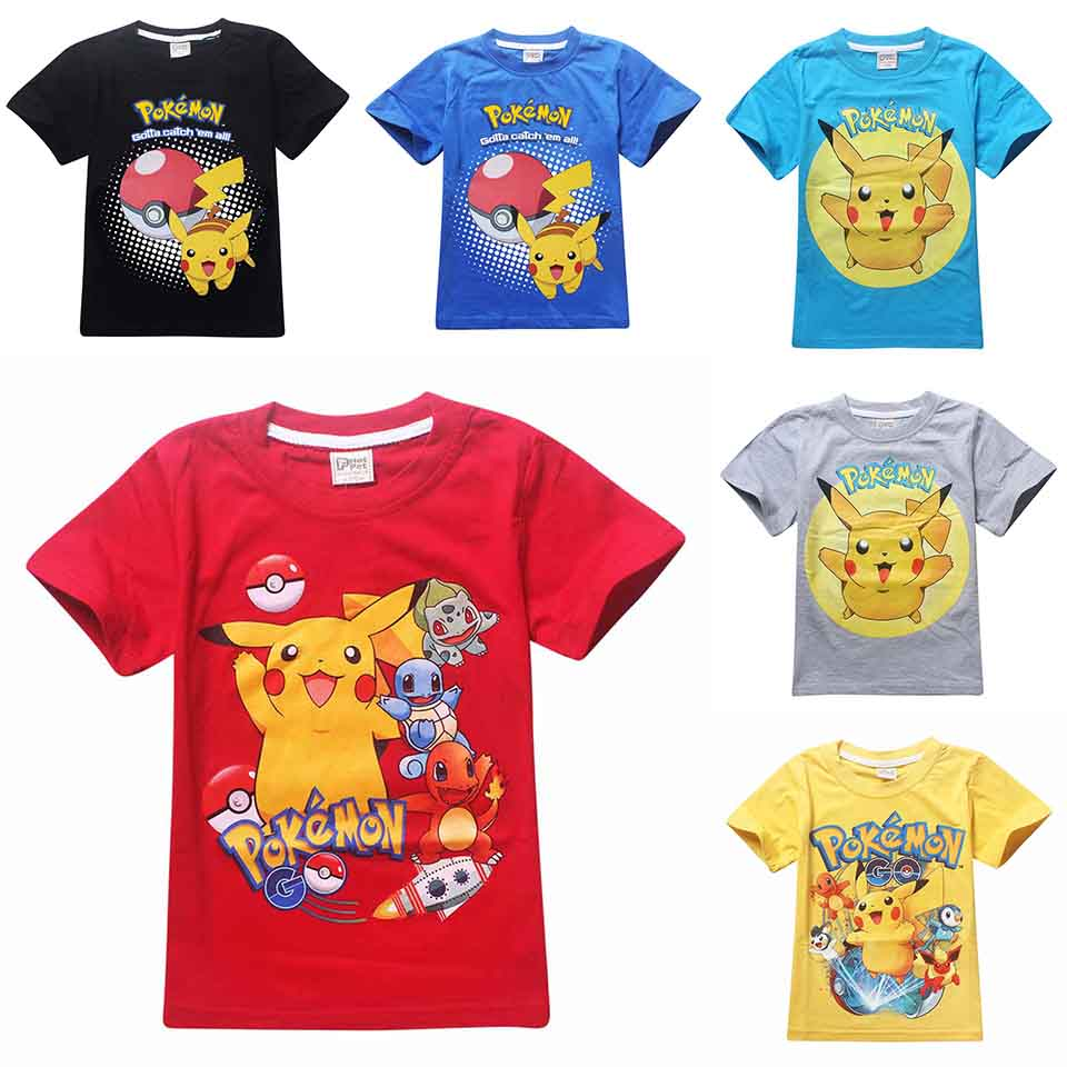 Children Pokemon Go Shirt Kids Pokemon T Shirt For Girls