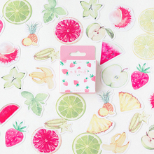 20packs/lot Lovely Fruit Story Cartoon Diary Adhesive Scrapbooking Decorative DIY Stickers Wholesale