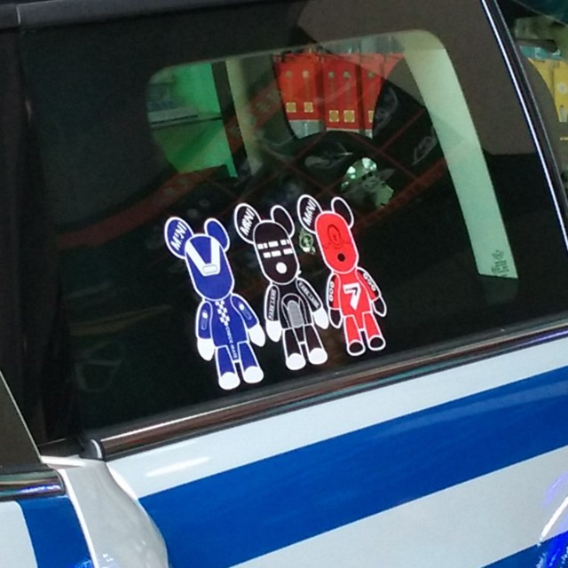 3pcs lovely bears vinyl decal car sticker window auto stickers accessories for mini cooper s countryman
