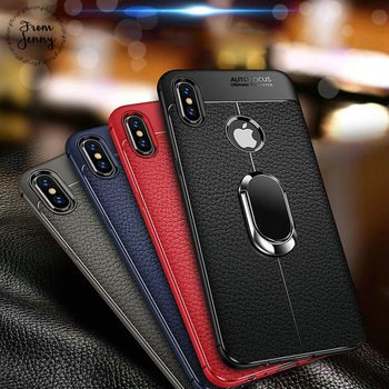 จาก jenny ซิลิโคนนุ่มหนังกลับสำหรับ iPhone X XR XS Max ผู้ถือรถแม่เหล็กสำหรับ iPhone 7 8 Plus 6 6 วินาที Plus