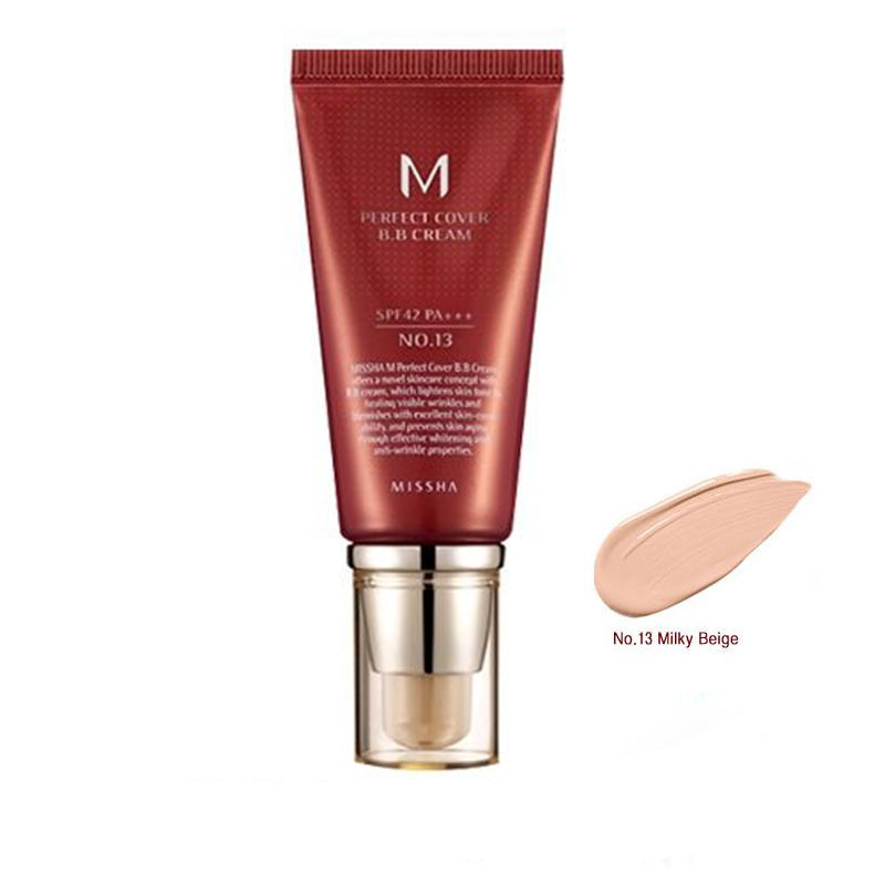 Best Korea Cosmetics MISSHA M Perfect Cover BB Cream 50ml SPF42 PA+++ (NO.13 NO.21 NO.23) Foundation Makeup Perfect BB Cream missha m perfect cover bb cream spf42 pa 50ml original korea missha perfect cover bb cream shipping from korea