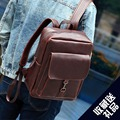 Men Backpack Small Size Travel Bag PU Leather Vintage Backpack Student School Bags for Teenagers Famous Brand Laptop Backpack