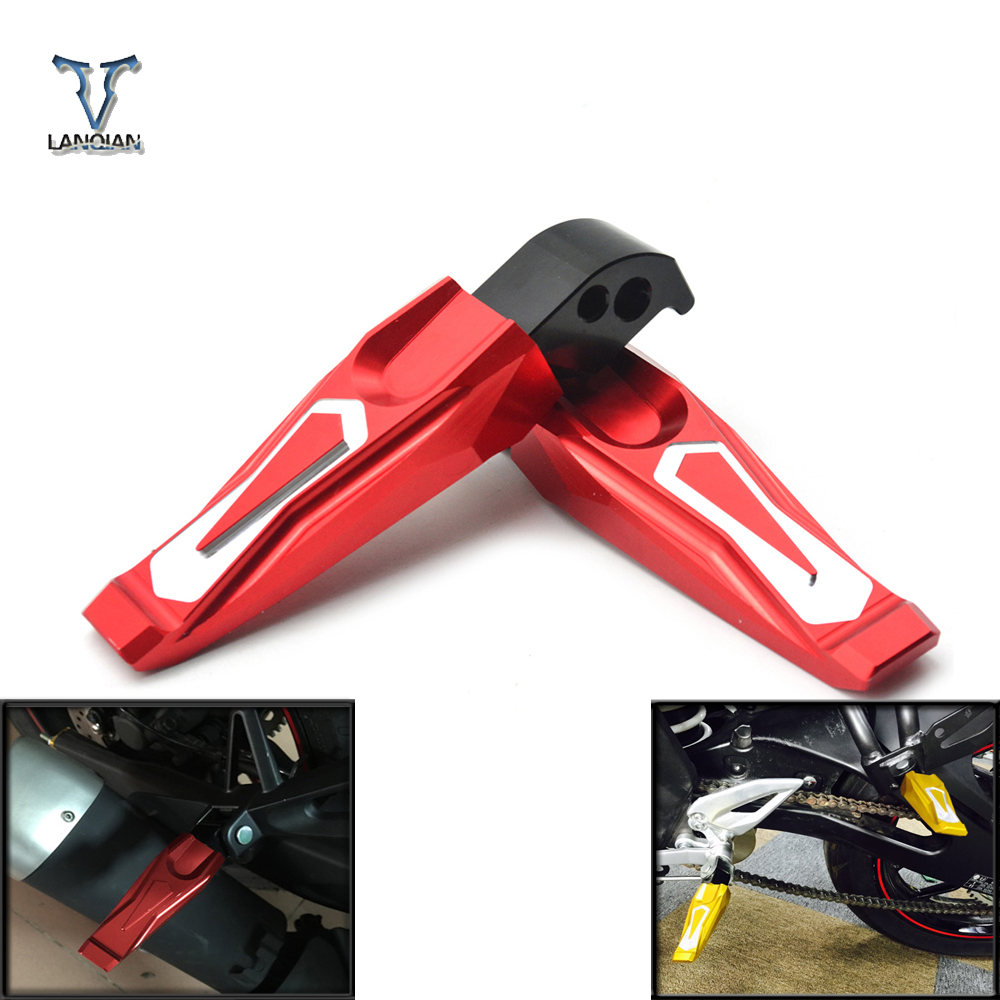 For Yamaha MT-07 2014 2015 2016 Motorcycle Foot Pegs CNC Aluminum Rear Passenger Footrests For Yamaha MT-09 Mt09 2014 2015 2016