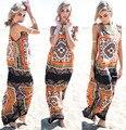Африканских Одежды Хлопок Одежда 2016 Новое Платье, египет, печатные Длинные Юбки, нет Рукав Жилет, пояс, печати, пляж, элегантное Платье.