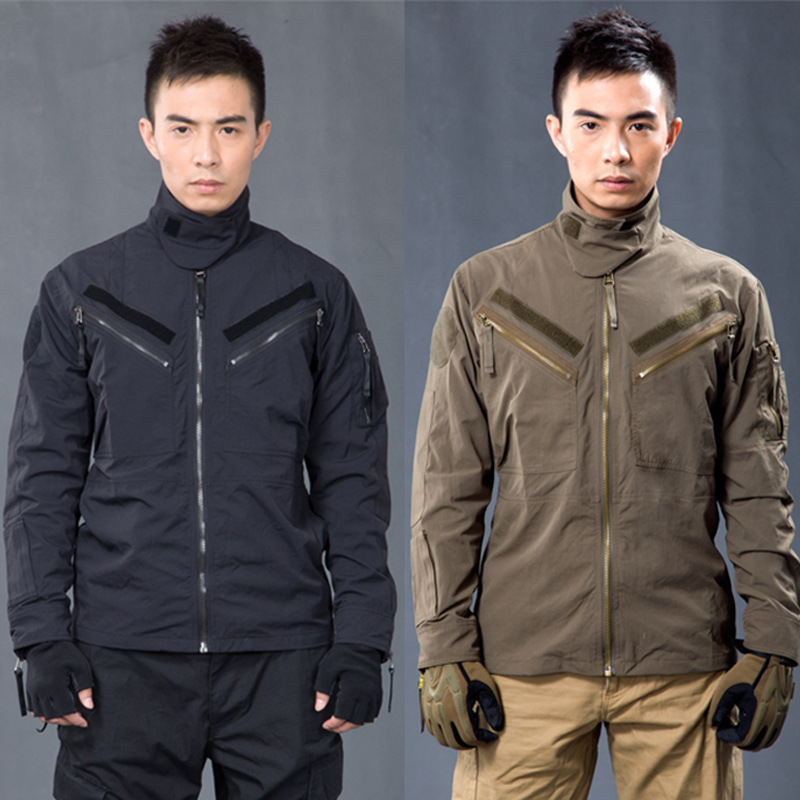 Man Tactical Jacket Hunting Army Military Coat Outdoor Men Hiking Camping Sports Quick Dry Cotton Jackets Autumn Winter Clothing