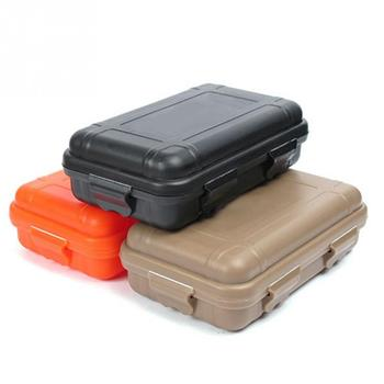 2pcs Outdoor Airtight Survival Storage Case Shockproof Waterproof Camping Travel Container Carry Storage Box Size S/L