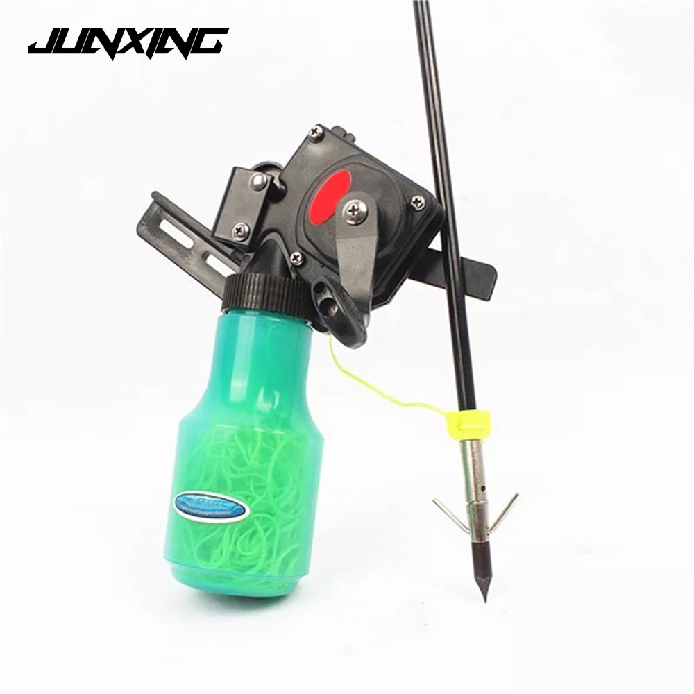 High Quality Bow Fishing Spincast Reel for Compound Bow and Recurve Bow Shooting Tool Fish Hunting Bow Fishing high quality stainless steel bow slingshot catapult hunting shooting fishing spincast reel 10lb