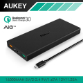 Quick Charge 3.0 AUKEY Power Bank with AiPower Adaptive Charging; Dual Port 16000mAh Portable Charger for charge LG G5, HTC 10