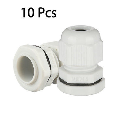 10Pcs M18 Waterproof IP68 TRS Cable Stuffing Gland Locknut for 5mm-10mm Dia Wire 5 x 13 18 mm brass nickel plated m30 2 0 mm electric cable gland waterproof