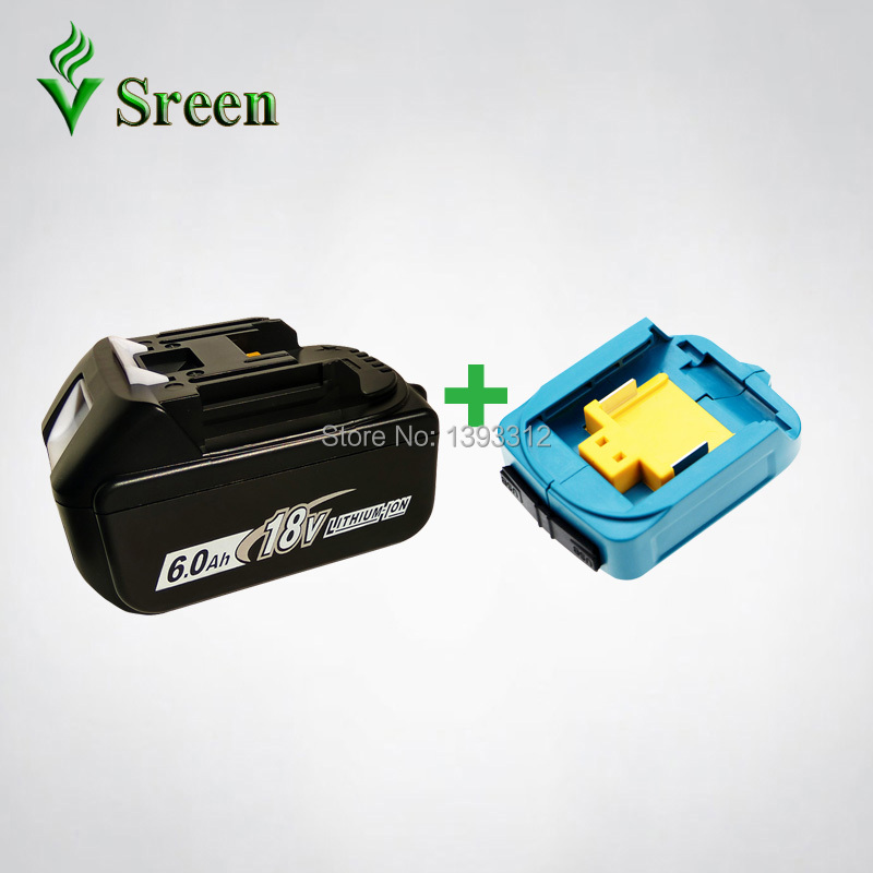18V 6000mAh BL1860 Replacement for Makita 18V BL1830 BL1840 BL1850 LXT Rechargeable Lithium Ion Power Tool Battery & USB Charger dvisi for makita bl1830 power tool battery cordless drill li ion batteries 18v 6000mah for makita bl1840 bl1860 bl1820 bl1850