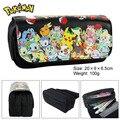 Pocket Monster bag Pokemon eevee double zipper pencil stationery bag wallet bag capacity