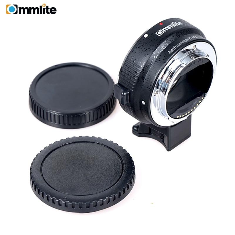Adaptateur d'objectif de mise au point automatique Commlite EF-NEX pour objectif Canon EOS EF EF-S à Sony E NEX plein cadre A7 A7R A7SII A7RII A6300 A6000 NEX-7