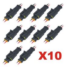 цена на 10pcs Electrical Connector Sets 2Pin Way Car Waterproof Male Female Electrical Connector Plug Wire Kit New Arrival