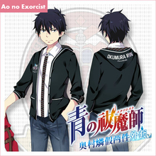Anime Ao no Exorcist Okumura Rin Cosplay Costume Okumura Rin Sweater Sweatshirt Coats and Jackets