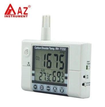 AZ77232 качество воздуха в помещении метр настенный CO2 Темп RH тестер