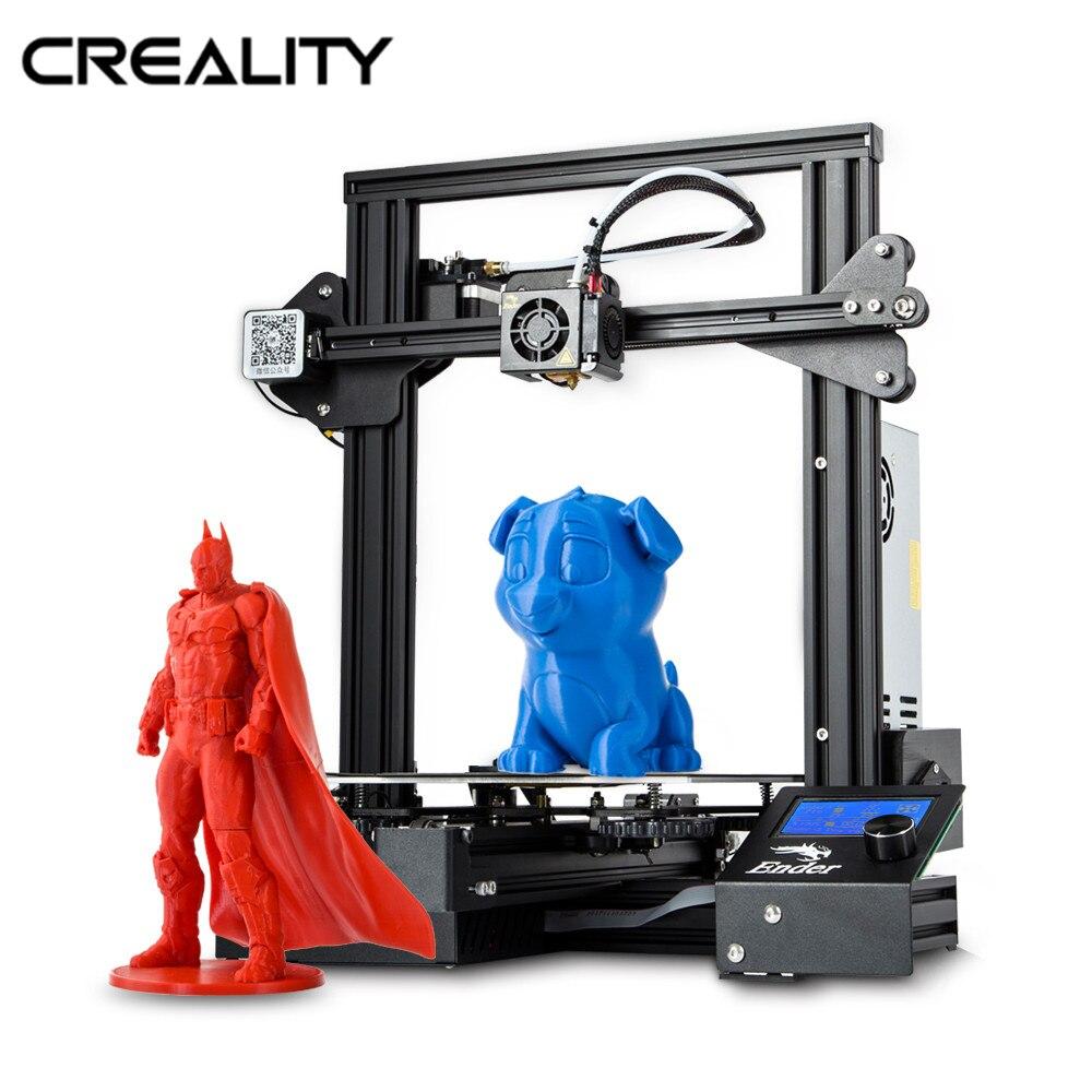 CRIATIVIDADE Novo Ender-3/Ender-3X/Impressora Ender-3 Pro 3D Abrir Construção de Grande Tamanho de Impressão 3D Drucker Impresora Impressora Kit retomar a Impressão