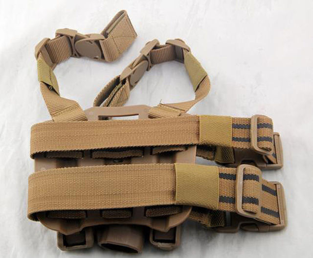Tactical Drop Leg left-hand Thigh Holster With 2 Pouches for SIG SAUER P226 P228 1
