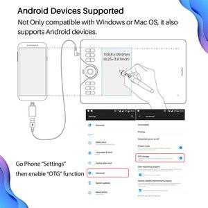 Image 5 - HUION HS610 tablettes de dessin graphique tablette de stylo numérique sans batterie tablette de téléphone Android avec inclinaison OTG pour Windows Mac OS
