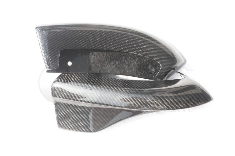 2008-2010 Subaru GRB STI Chargespeed Bottom Line Style Rear Bumper Spats Caps Corner Extension CF   (10)
