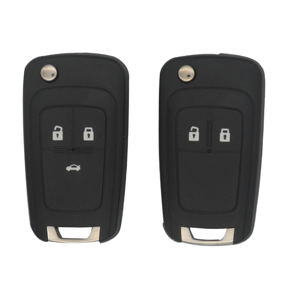jingyuqin Flip Folding Remote car Key Shell For Chevrolet Cruze Epica Lova Camaro Impala 2 3 4 5 Button HU100 Blade With Logo(China)