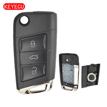 Keyecu Modified Golf 7 Stylish Remote Car Key Shell Case Fob for Volkswagen Seat Skoda