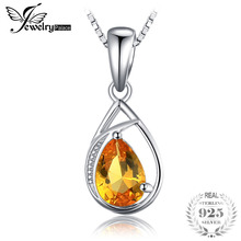 Buy orange sapphire necklace and get free shipping on aliexpress jewelrypalace elegant 096ct created orange sapphires necklaces pendants 100 925 sterling silver 45cm box chain women gift aloadofball Gallery