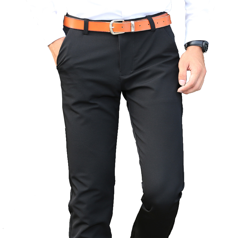 TFETTERS Brand New Fashion Men Pant Solid Color Straight Long Trouser For Male Korean Casual Style Business Pants