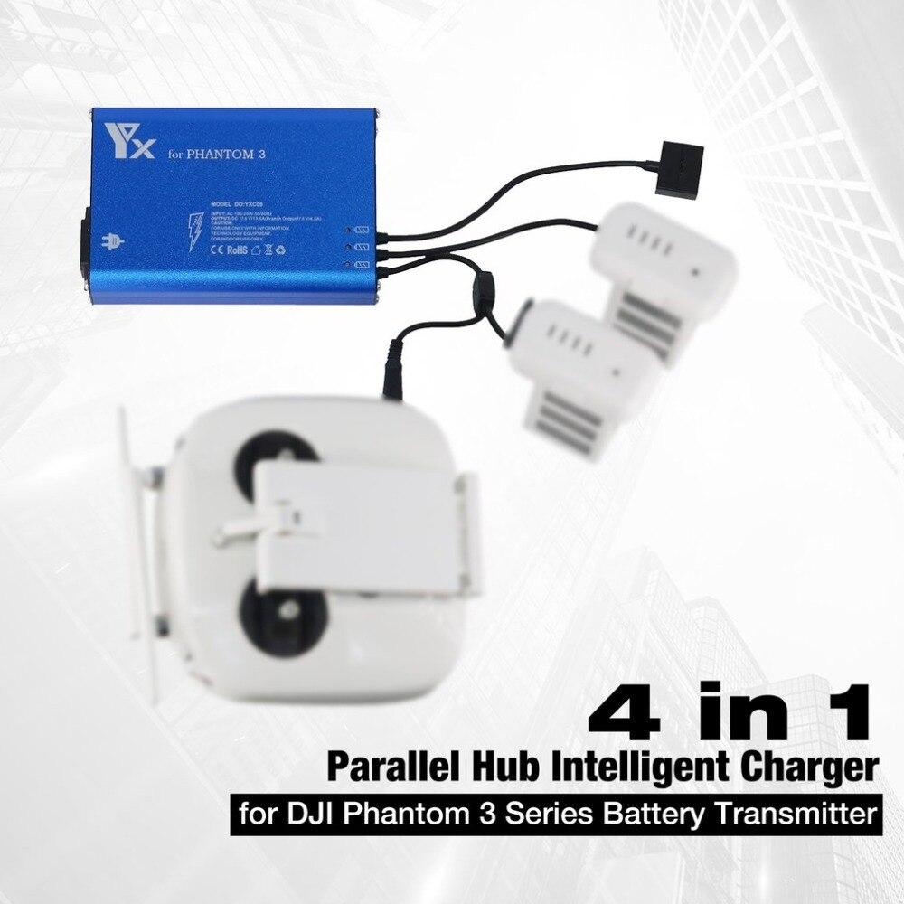 4 в 1 параллельный Мощность центром интеллектуальных Батарея передатчик Зарядное устройство для DJI Phantom 3 Стандартный профессиональной деят...