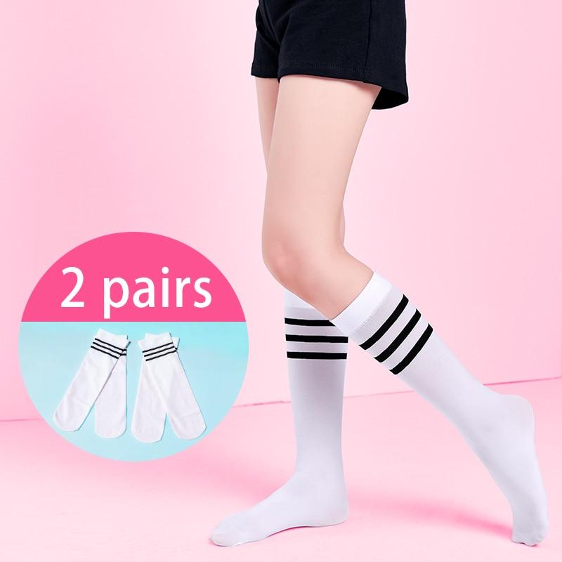 High Elasticity Girl Cotton Knee High Socks Uniform Peace Women Tube Socks