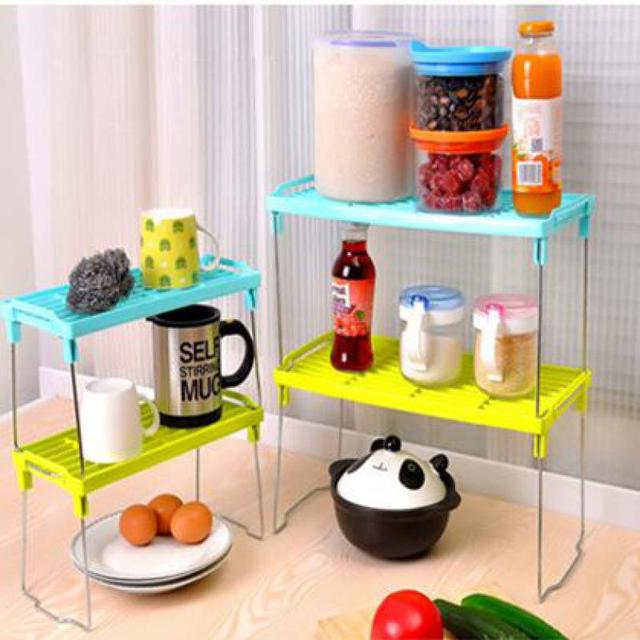 New Shelf Kitchen Organizer Folding Rack Magazine Holder Stainless