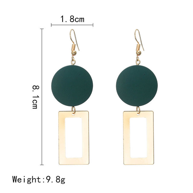 2018 Retro women's fashion statement earring earrings for wedding party Christmas gift wholesale