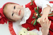 Baby Christmas gift dolls reborn babies 55CM size silicone reborn babies bonecas children toys