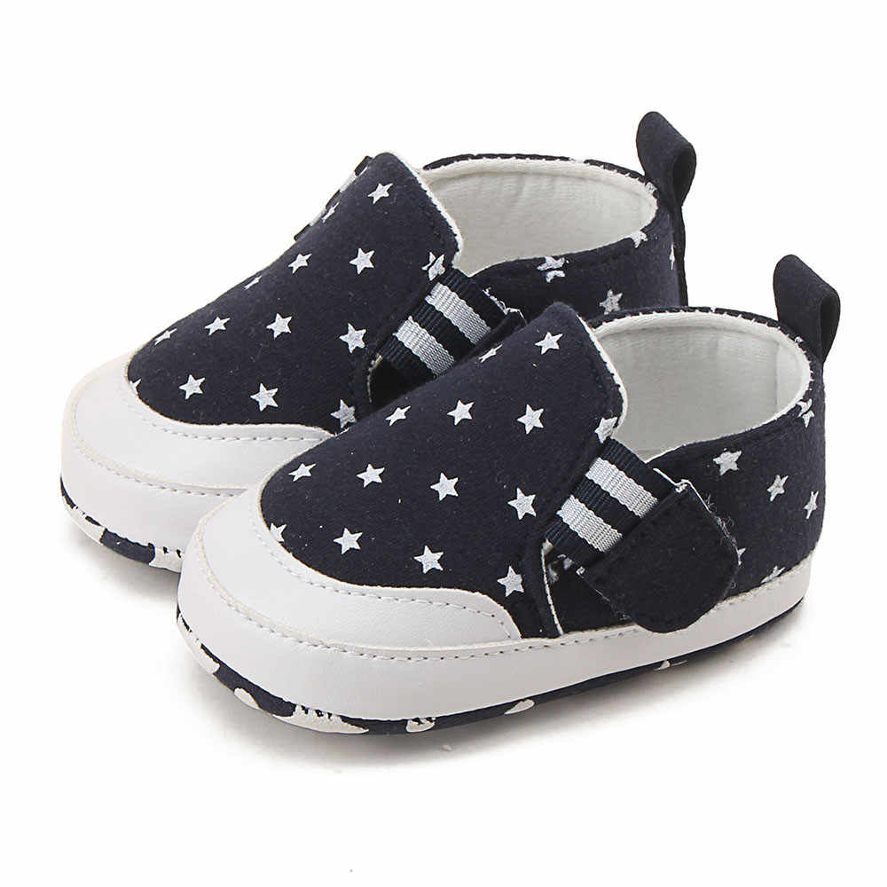 Newborn Crib Shoes Newborn Infant Baby Girl Boy Shoes Star Print Crib Shoes Soft Sole Anti Slip Sneakers Baby Shoes Girls Bebek Ayakkabi