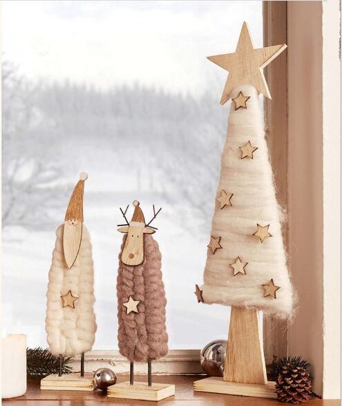 Gratis frakt, 2st / set, Jul Set Decoration Hängsmycke Julgran Elk - Heminredning - Foto 2