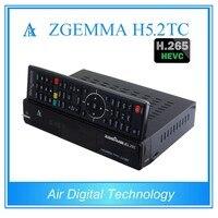 20ชิ้น/ล็อตซอฟต์แวร์เดิมZGEMMA H5.2TC Multistreamรับคำสั่งผสมDual Core H.265 DVB-S2 + 2 * DVB-T2/C T Ripleจูนเนอร์HDTVกล่อ