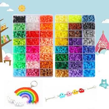 Cuentas Hama de 5mm, 48 colores, rompecabezas, juguete educativo, cuentas de fusible,...