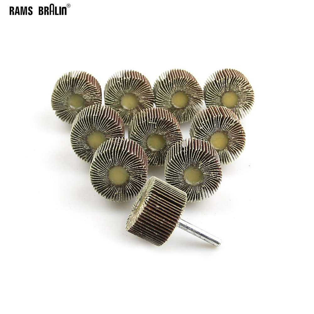 10 Pieces 40*25mm*6mm Shaft Mounted Drill Flap Wheel For Wood Metal Grinding P80 P120