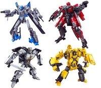 2019 4 style 14cm Original box Anime Transformers plastic Ironhide Bumblebee model children Toy Dolls Gifts