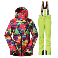 2016newest Winter Women S Ropa Ski Mujer Ski Suit Waterproof Female Snow Jackets Thicken Breathable Snowboard