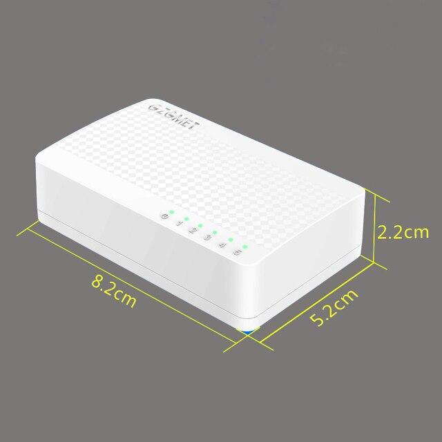 Beyaz Kılıf mini ethernet switch 4 liman masaüstü ağ SOHO için RJ45 LAN HUB Küçük anahtarı Ev 100