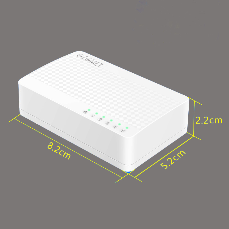 White Case Mini Ethernet Switch 4 Port Desktop Network SOHO RJ45 LAN HUB Small Switch For Home 100