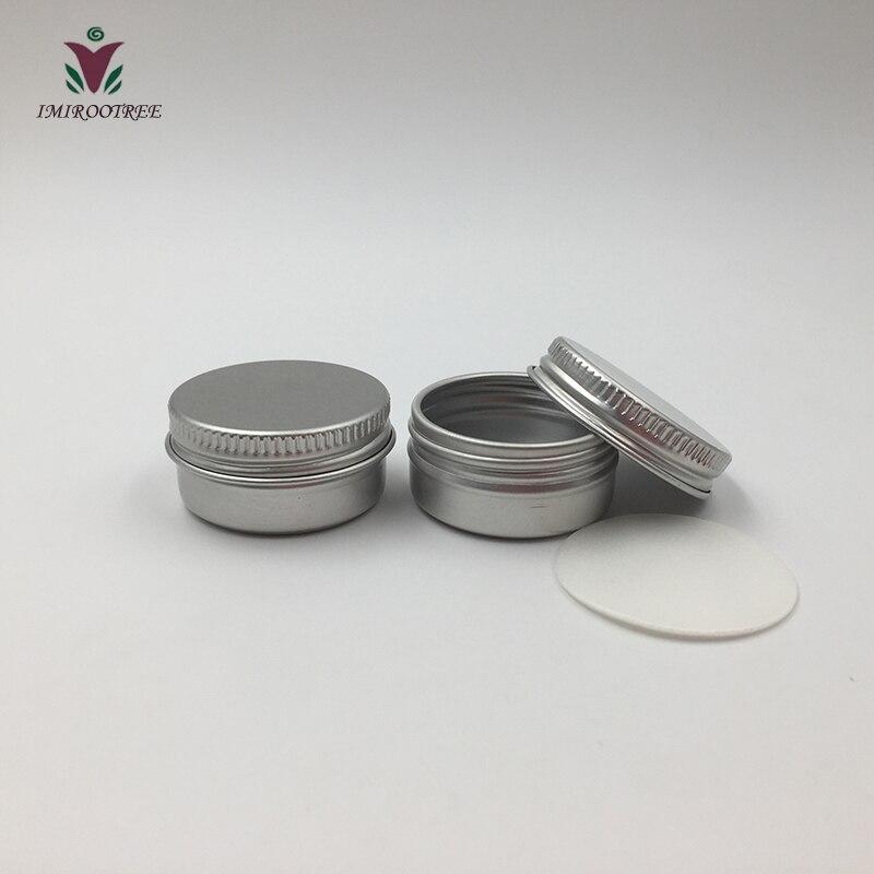 102pcs 5g 10g 15g 30g Aluminum Tin Can Metal Jar for Cosmetic Body Eye Lip Cream Packaging