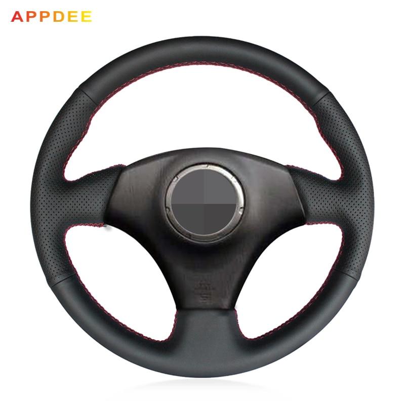 APPDEE Black Genuine Leather DIY Car Steering Wheel Cover for Toyota RAV4 2003-2005 Lexus IS200 300 (No multi-function button)APPDEE Black Genuine Leather DIY Car Steering Wheel Cover for Toyota RAV4 2003-2005 Lexus IS200 300 (No multi-function button)