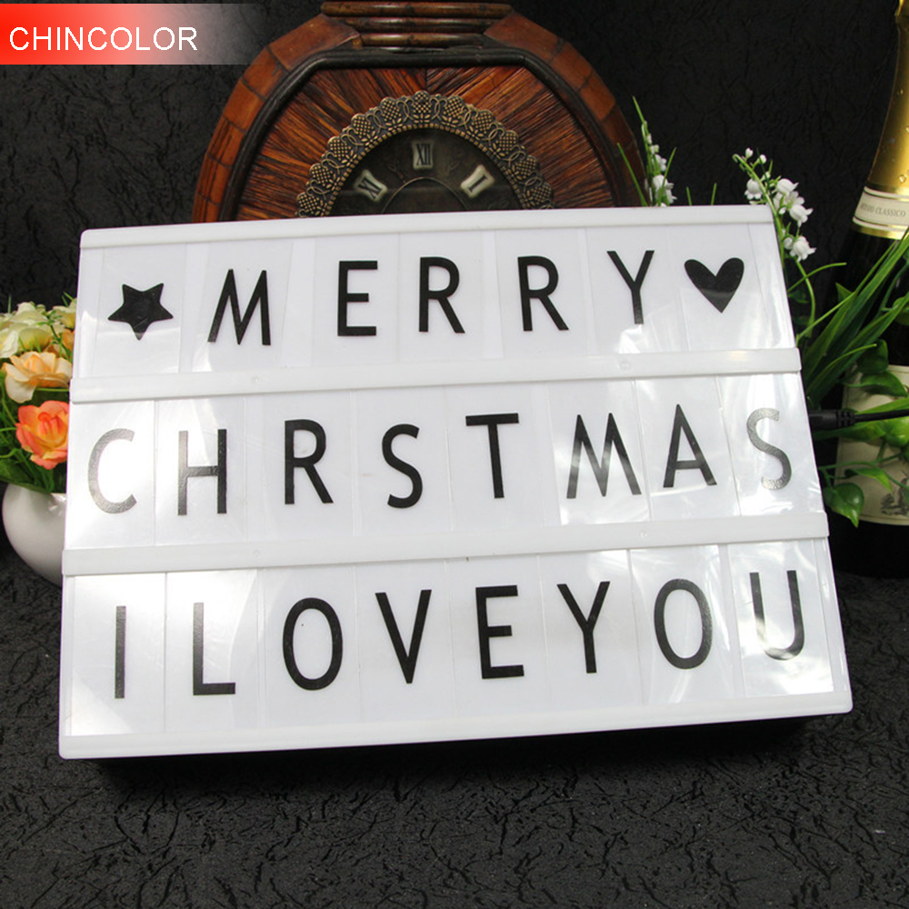 A4LED Holiday lights 72pcs alphabet card Led porch Letter Replacement cinematic light box Rechargeable & battery operated DA